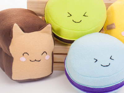 More plushies // handmade food catloaf cookie cake plush toys